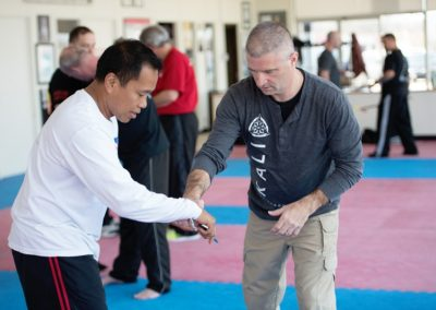 Instructors working with students